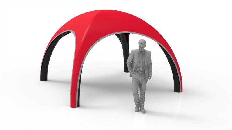 Aufblasbares Dome Zelt 3 m mit schwarze Standbeine