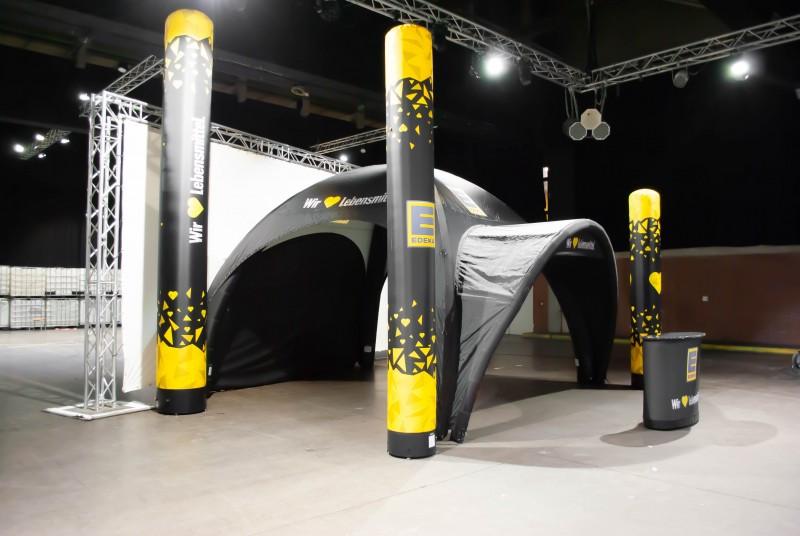Aufblasbare Domezelte - Aufblasbare Werbesysteme - Aufblasbare Werbesäulen