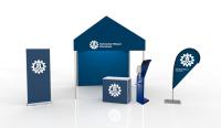 Einsatzzelt mobile Teststation - Faltzelt 3x3 bedruckt mit Seitenwänden Komplettpaket