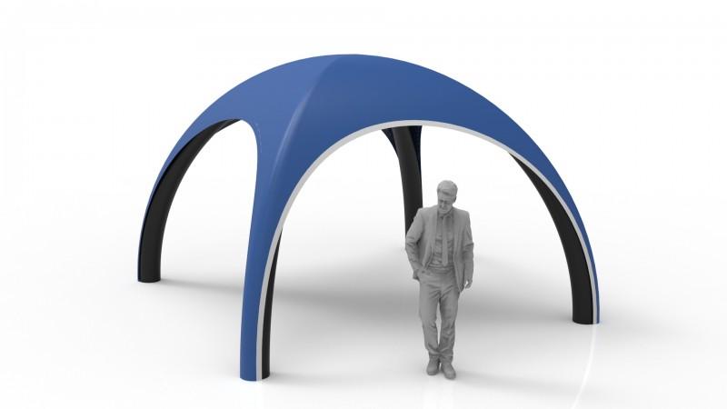 Aufblasbares Dome Zelt 4 m mit schwarze Standbeine