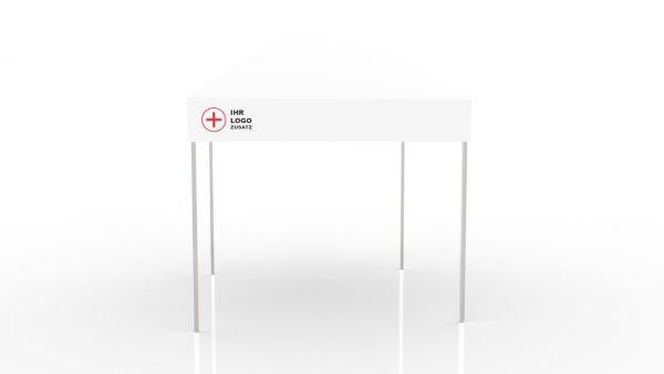 Einsatzzelt mobile Teststation - Faltzelt 3x3 bedruckt ohne Seitenwand