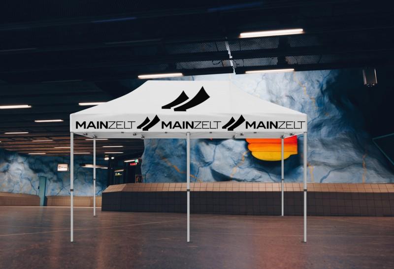 Faltzelt - Faltpavillon Businessline 4x8m mit Druck