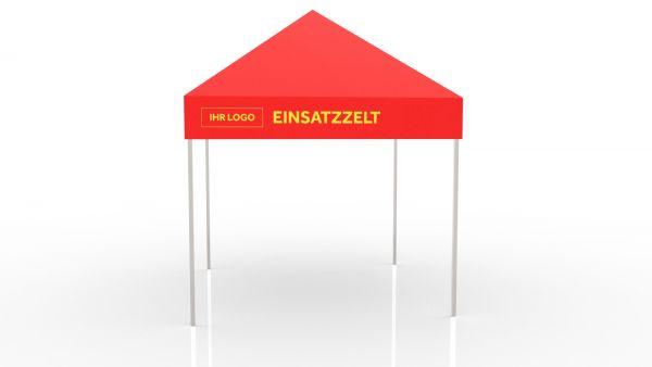 Einsatzzelt mobile Teststation - Faltzelt 3x3 bedruckt