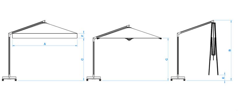 Technische-Zeichnung-Ampelschirm-Standard