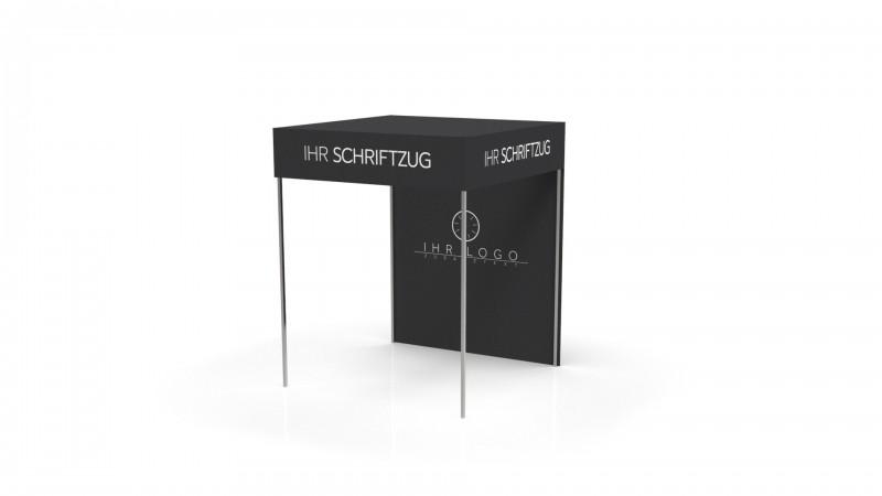 Faltzelt - Faltpavillon Flachdach Alugestell 1,5x1,5m mit Druck