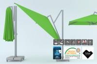 Ampelschirm Freiarmschirm Quadratisch Faltbar und Schwenkbar 2,5 - 4 m